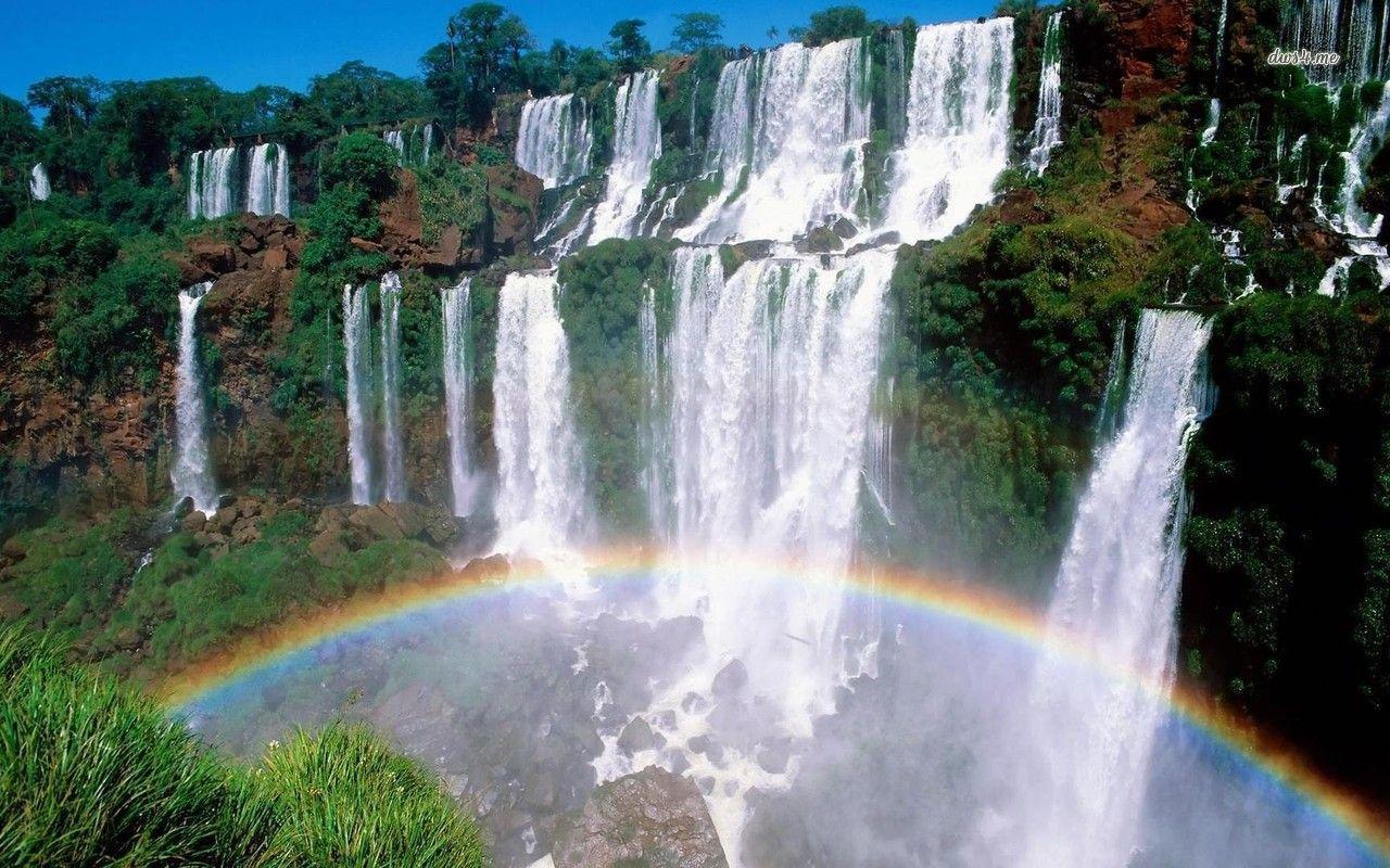 Iguazu Falls Desktop Wallpaper Iguazu Falls Wallpapers Wallpaper Cave
