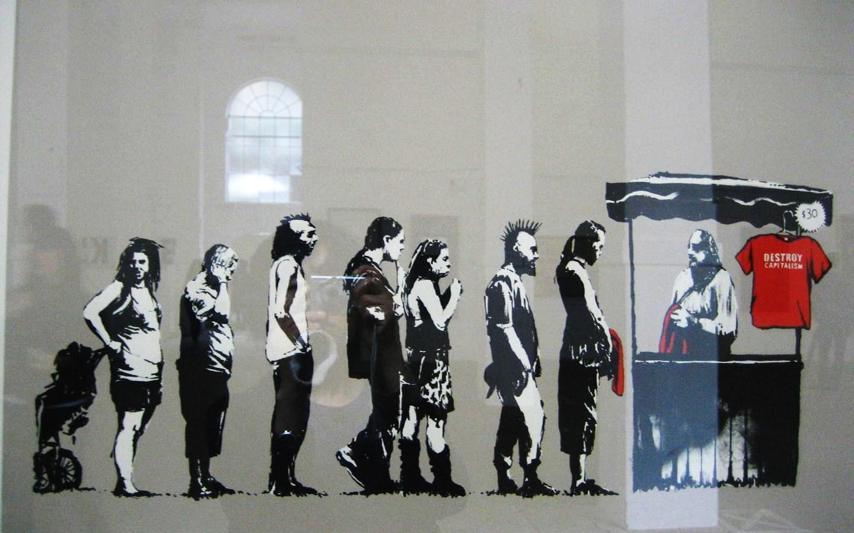 Wallpaper Graffiti Keren 3d Banksy Graffiti Wallpapers Wallpaper Cave