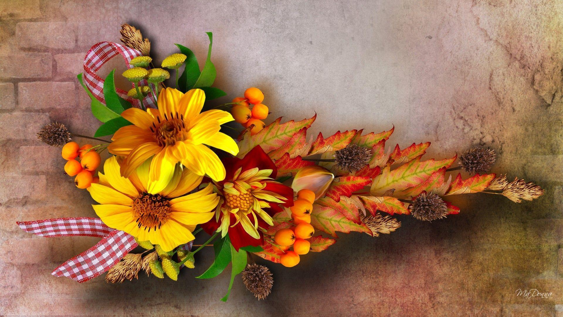 Fall Wallpaper With Pumpkins Fall Flowers Wallpapers Wallpaper Cave