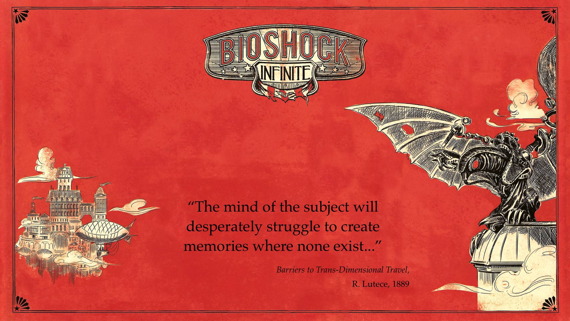 Videogame Wallpapers With Quotes Bioshock Infinite Wallpapers 1920x1080 Wallpaper Cave