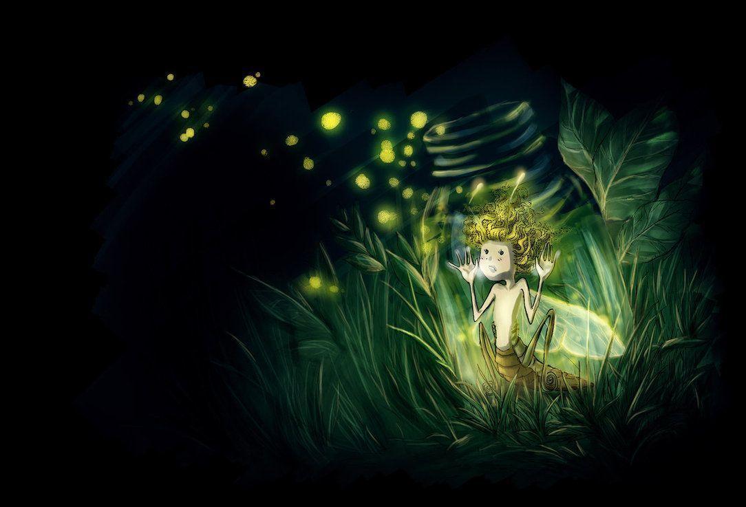 Cute Owl Cartoon Wallpaper Fireflies Wallpapers Wallpaper Cave