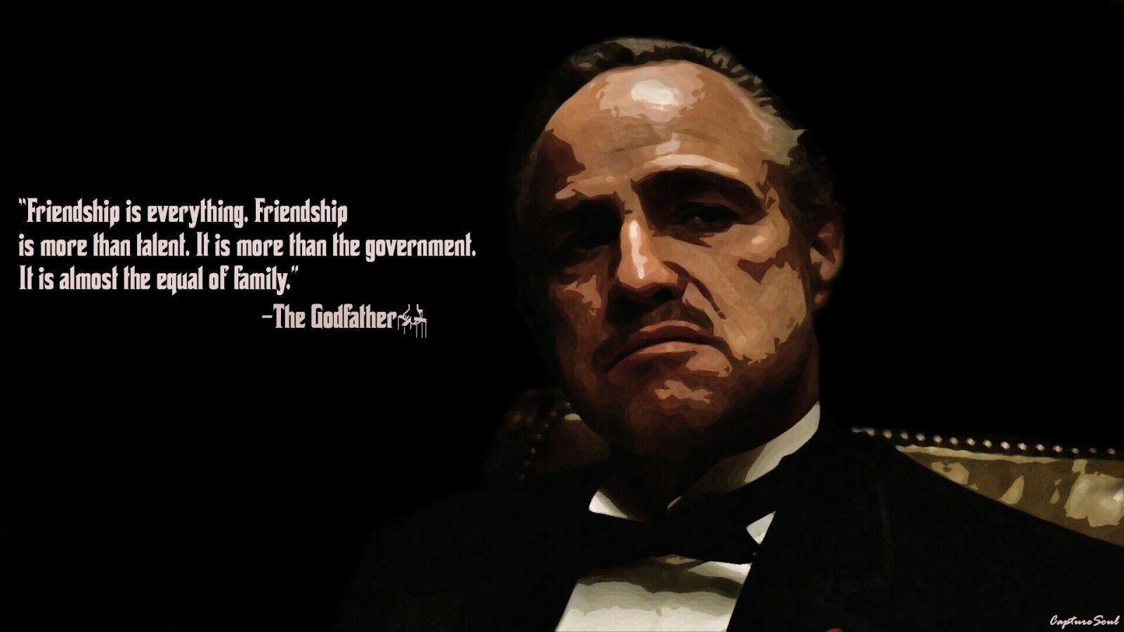 Godfather Quotes Hd Wallpapers Wallpapers The Godfather Wallpaper Cave