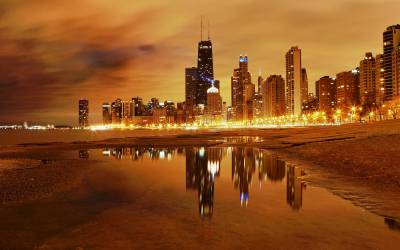 Chicago Skyline Backgrounds - Wallpaper Cave