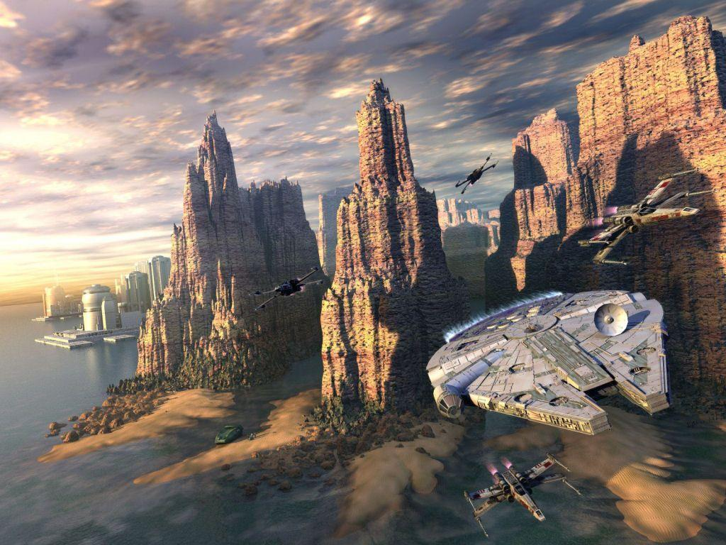 Awesome 3d Art Wallpaper Millenium Falcon Wallpapers Wallpaper Cave