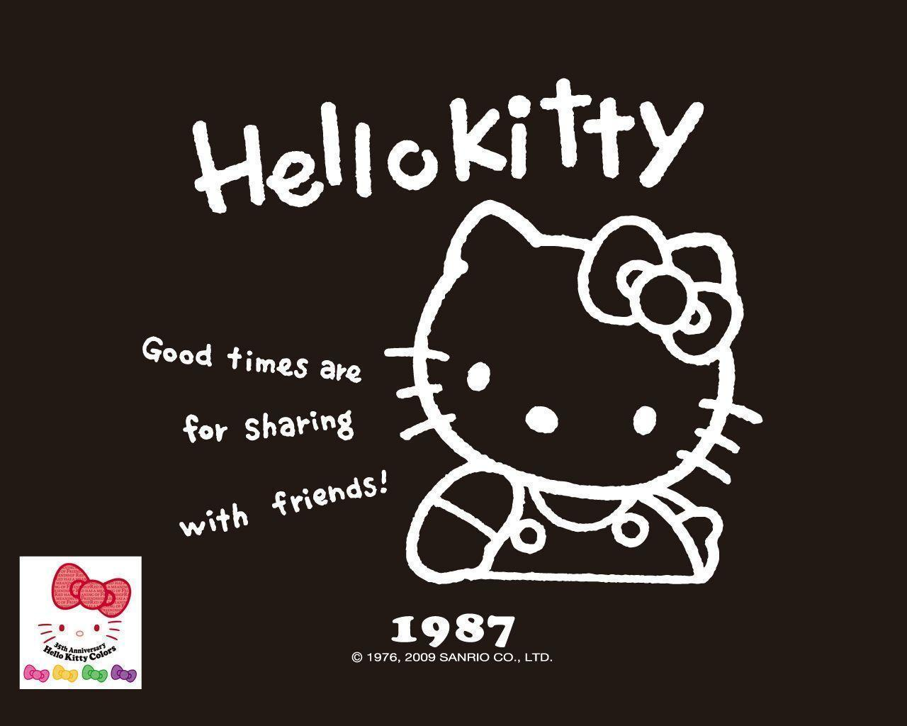 Cute Anime Kitty Wallpaper Hello Kitty Black And Pink Wallpapers Wallpaper Cave