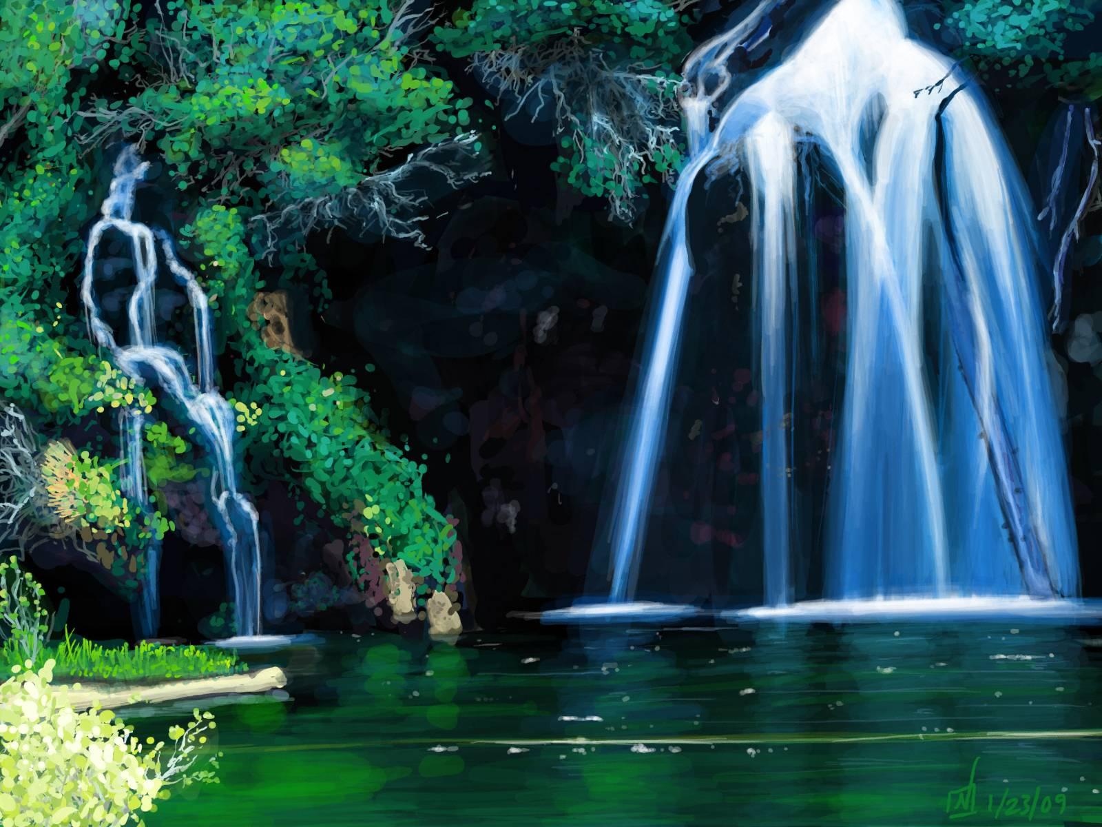 Live Wallpaper Spring Zen Hd 3d Waterfall Backgrounds Wallpaper Cave