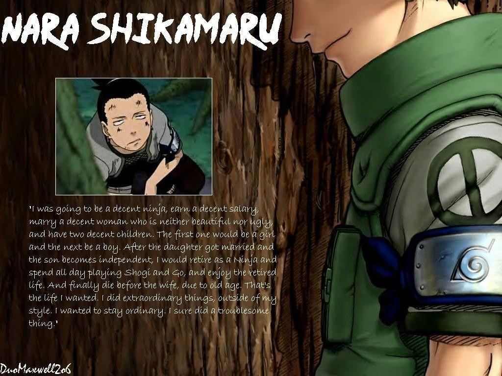 Itachi Quotes Wallpaper Hd Shikamaru Shippuden Wallpapers Wallpaper Cave