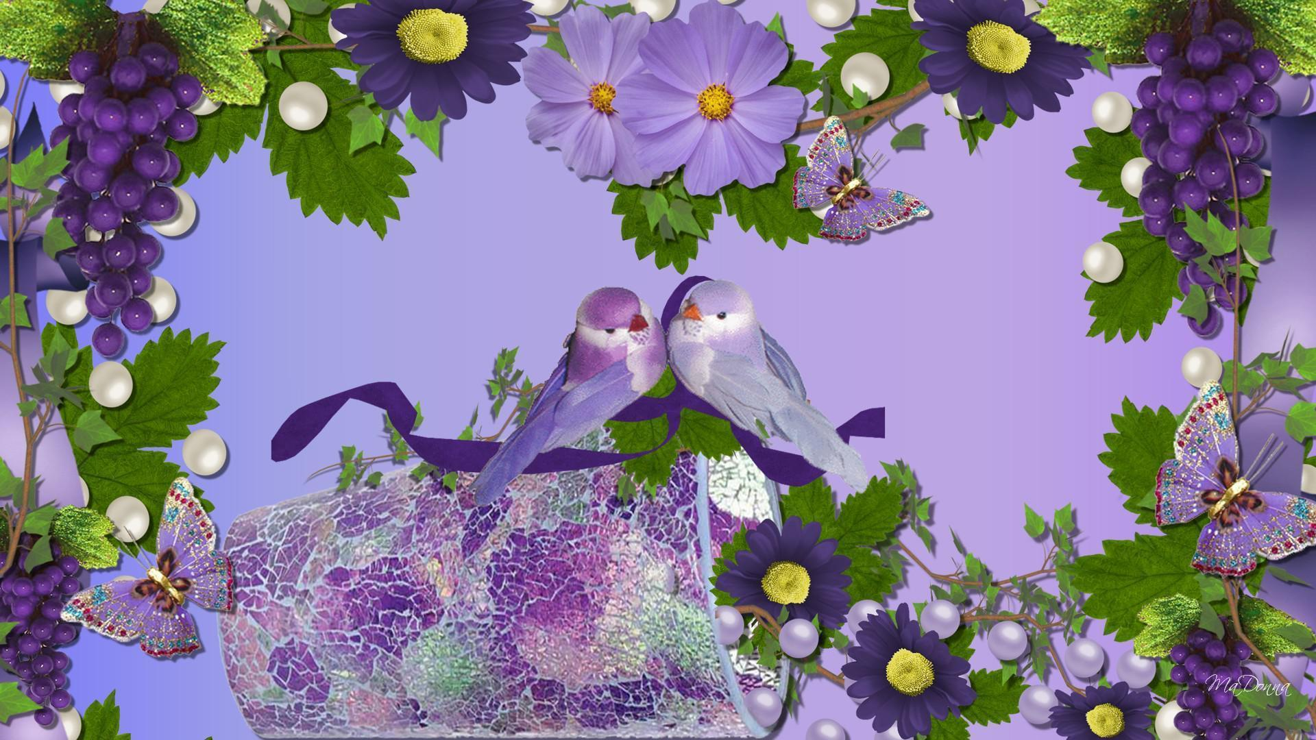 Beautiful Pictures Of Flowers And Butterflies Birds Love Birds Wallpapers Wallpaper Cave