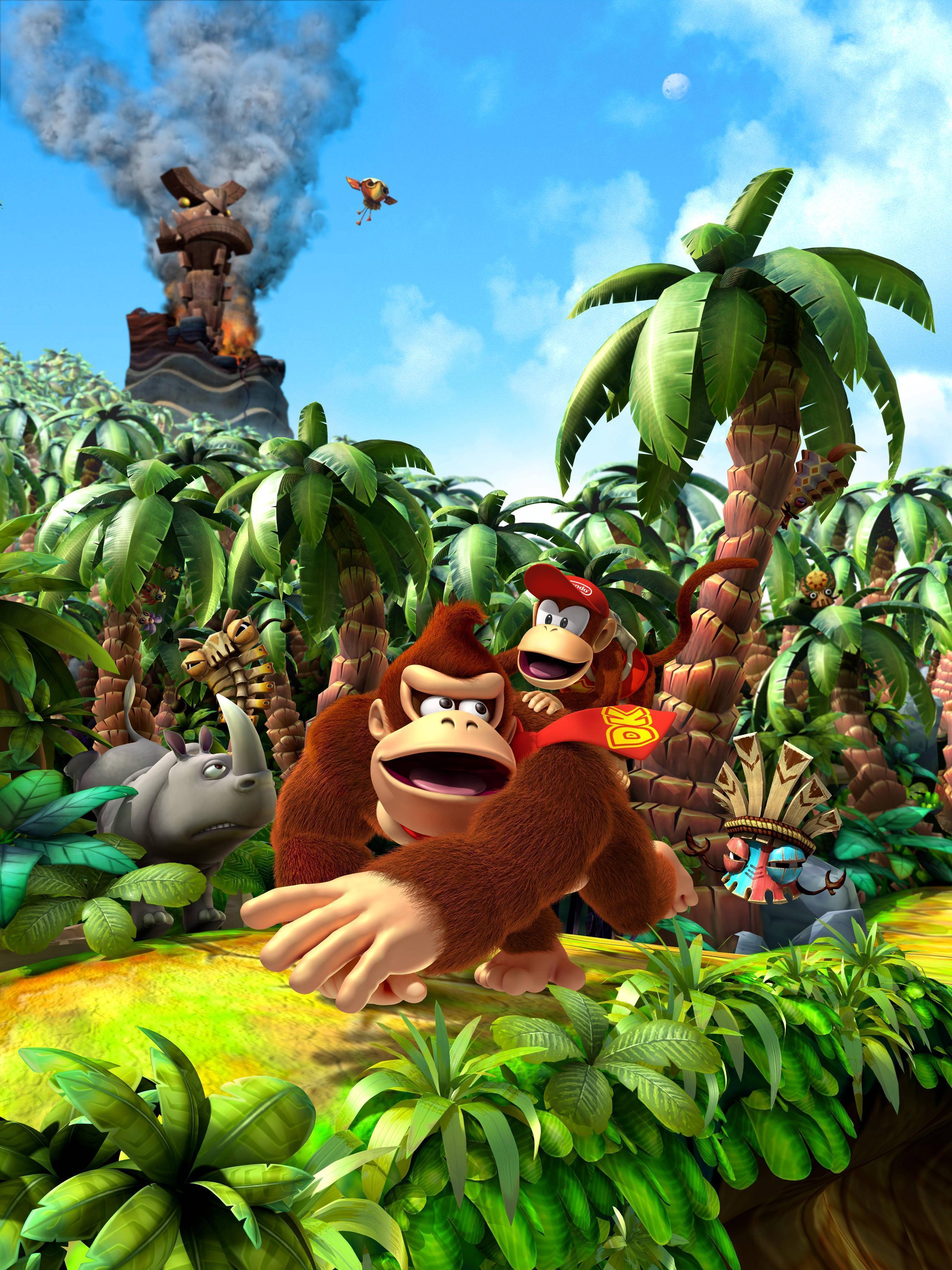 Super Mario 3d World Wallpaper Donkey Kong Country Returns Wallpapers Wallpaper Cave