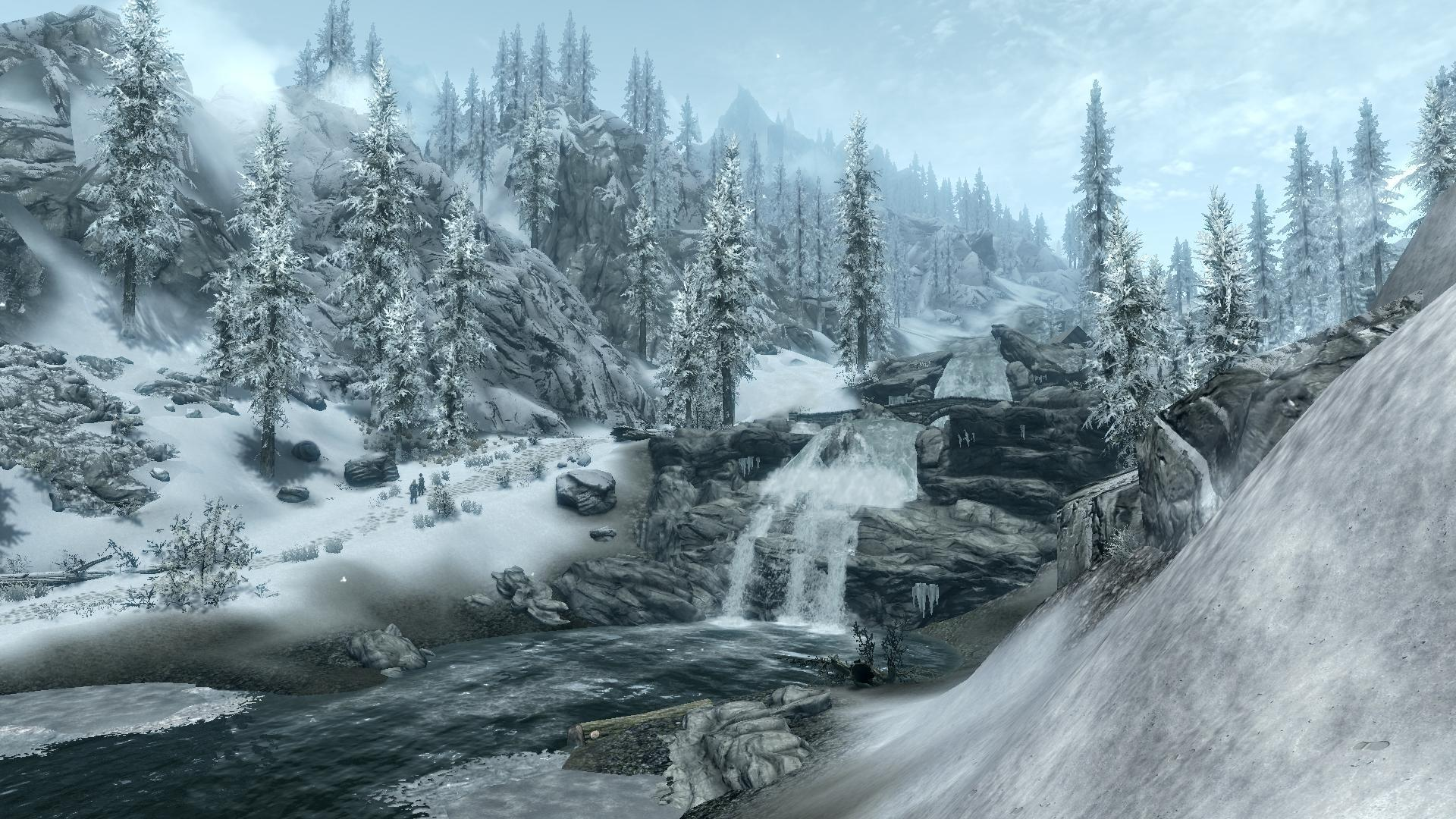 Lonely Girl Hd Wallpapers 1080p Skyrim Scenery Wallpapers Wallpaper Cave