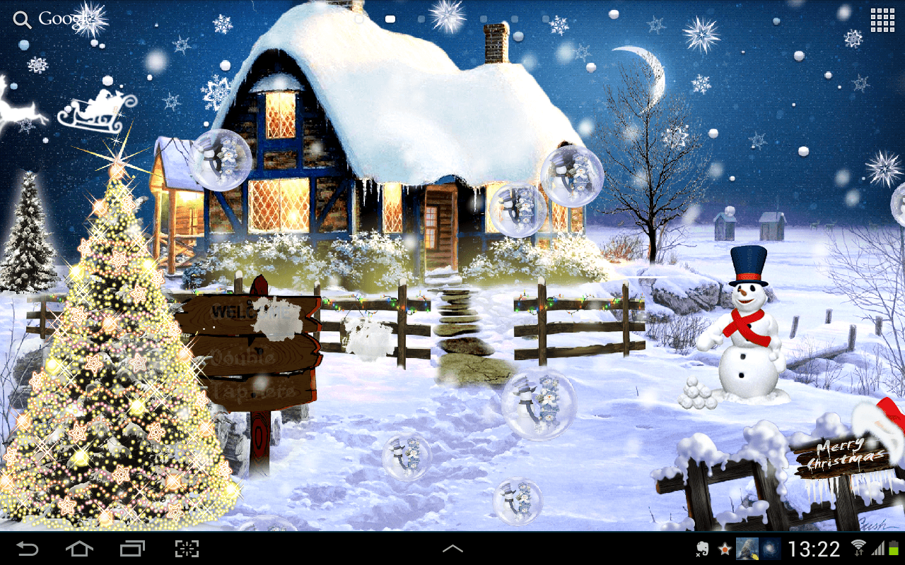 Cute Background Wallpaper For Computer Christmas Lights Animal Hd Animated Christmas Wallpapers Wallpaper Cave