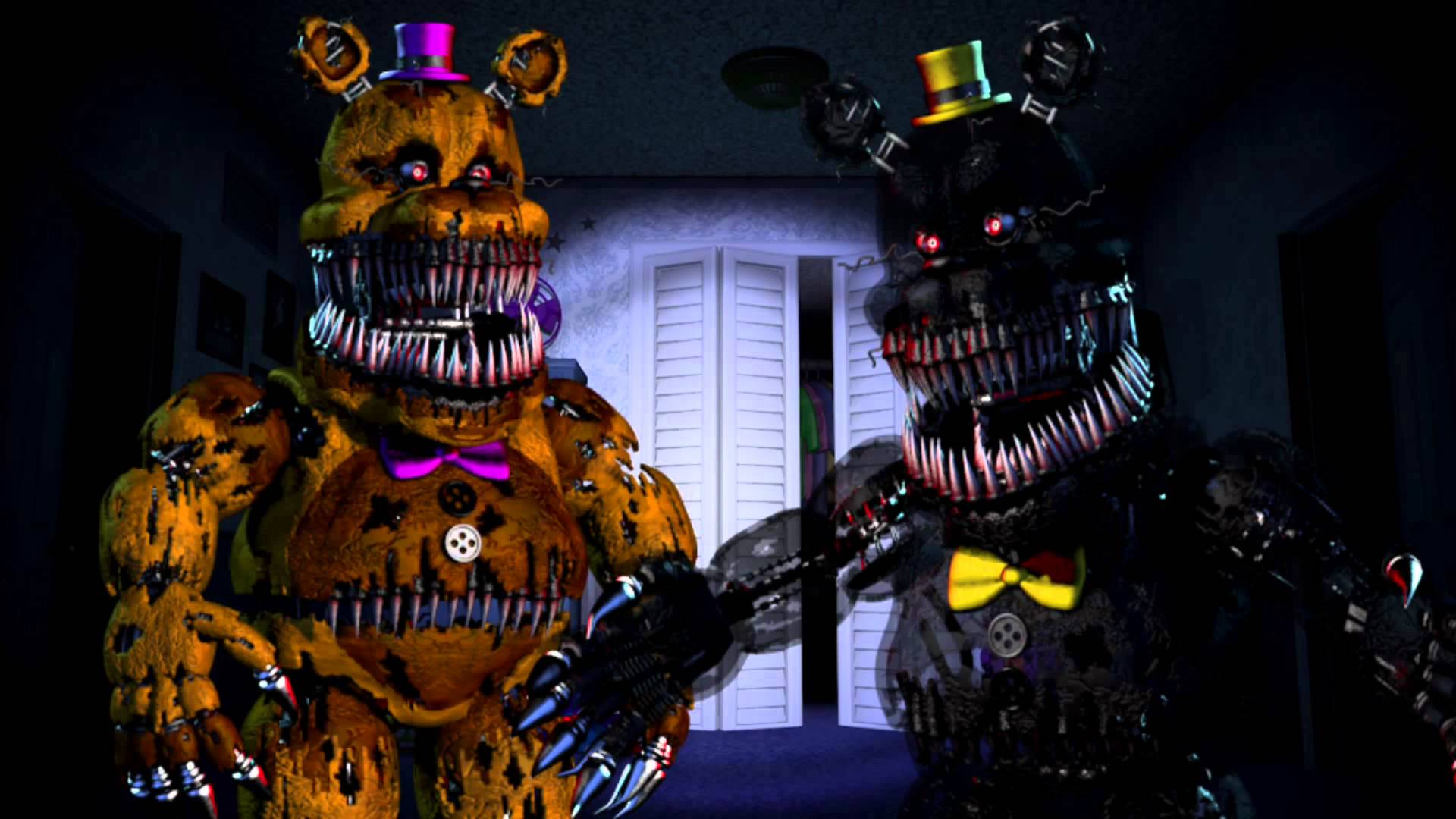 Fnaf Wallpapers 3d Nightmare Fredbear Wallpapers Wallpaper Cave