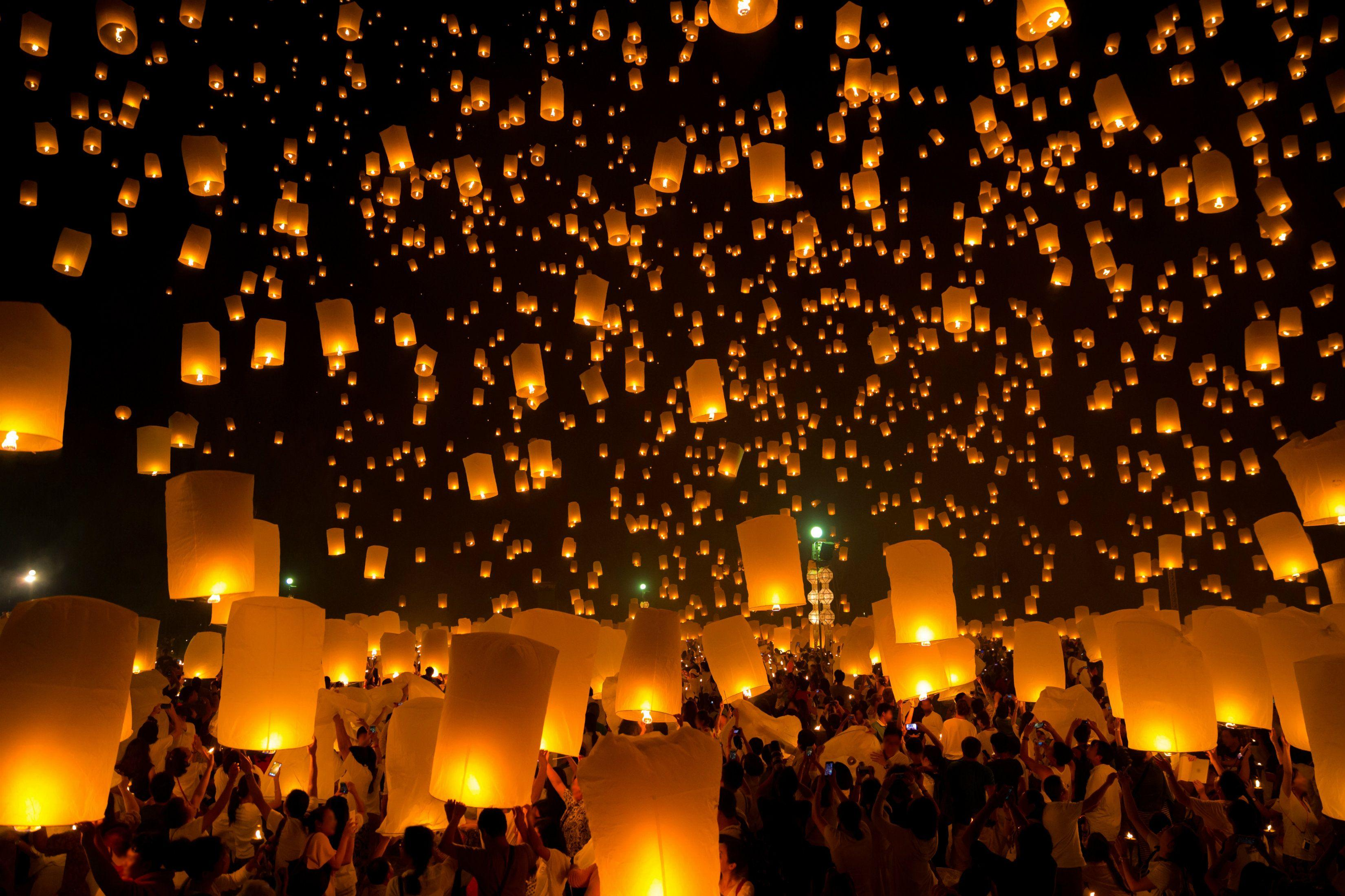 Floating Lanterns Festival Wallpapers Wallpaper Cave