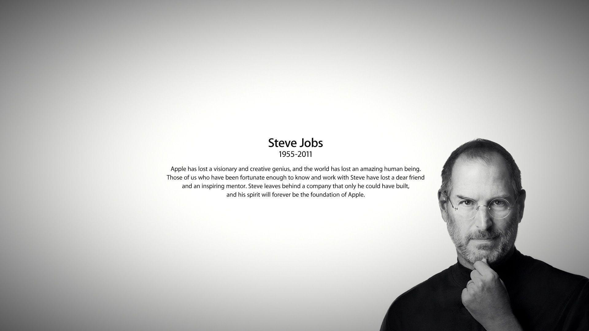 Steve Jobs Quotes Your Time Is Limited Wallpaper Steve Jobs Wallpapers Wallpaper Cave