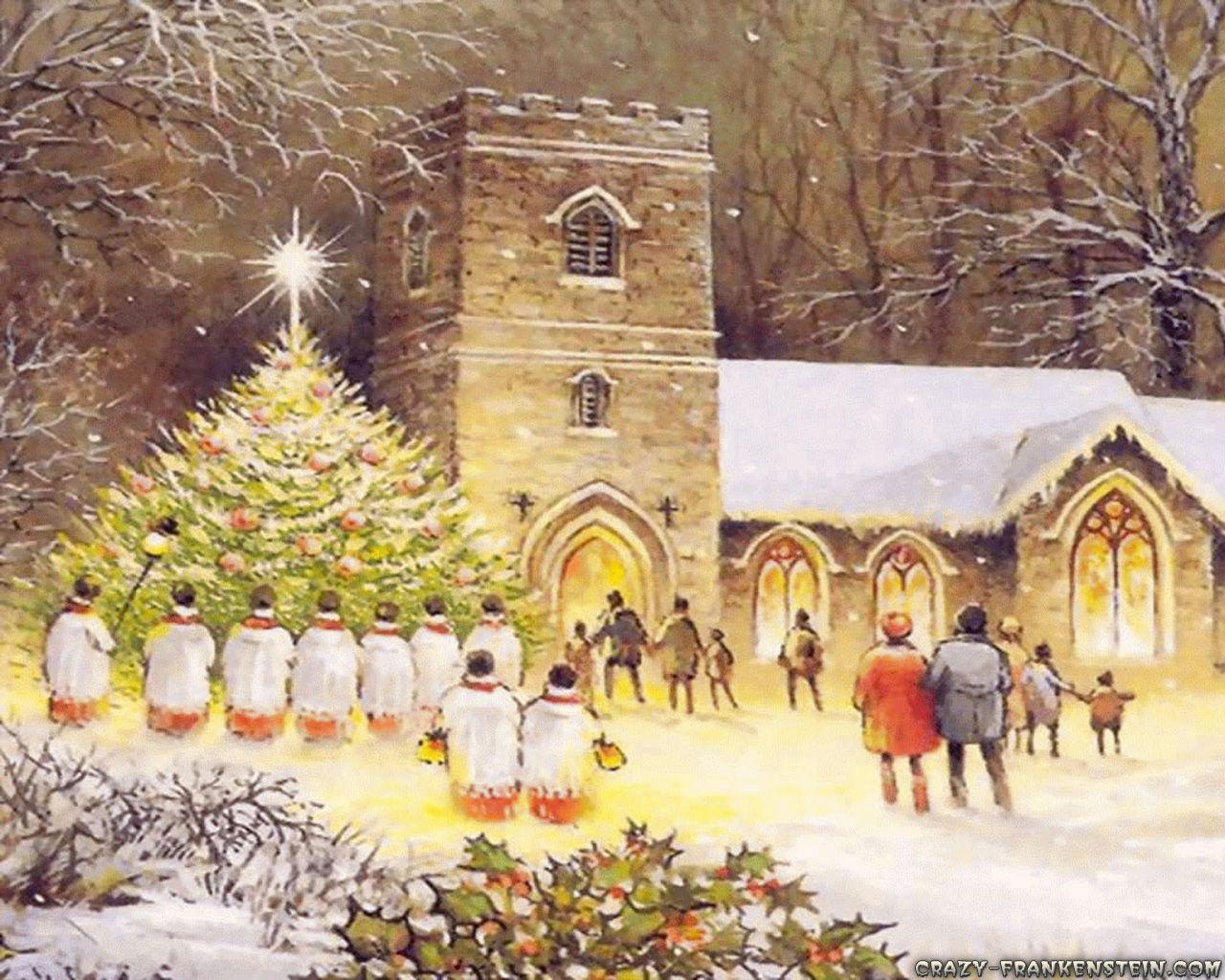 Old Fashioned Christmas Wallpapers Wallpaper Cave