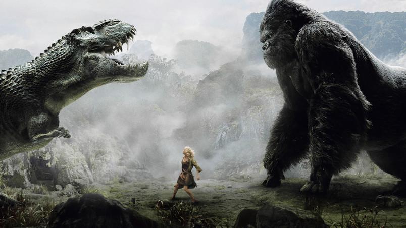 Lion Animal Wallpaper 3d King Kong Vs Dinosaur Hd Wallpaper Wallpaperfx