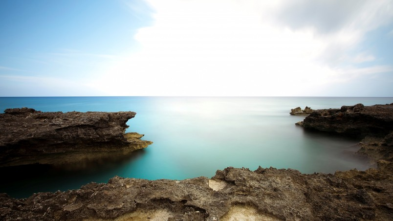 Free Animated Nature Wallpapers For Desktop Calm Sea Landscape Hd Wallpaper Wallpaperfx