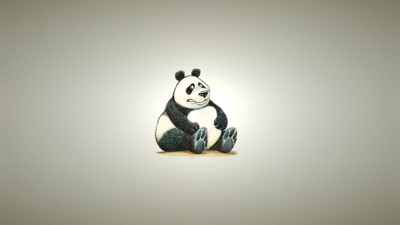 3d Cartoon Animal Wallpapers Fat Panda Bear Hd Wallpaper Wallpaperfx