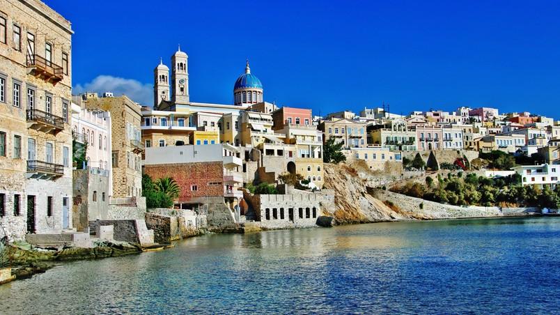 3d High Definition Wallpapers Syros Island Greece Hd Wallpaper Wallpaperfx