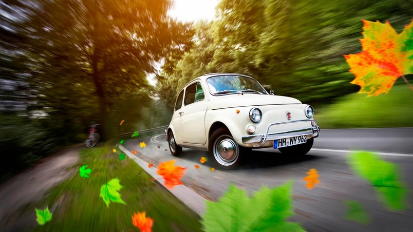 3d Wallpaper Ideas Gorgeous Old Fiat 500 Hd Wallpaper Wallpaperfx