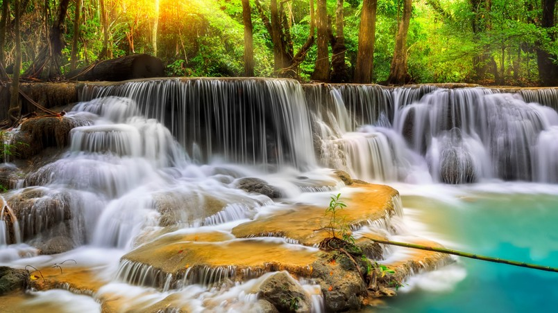 Free Animated Desktop Wallpaper Waterfall In Thailand Hd Wallpaper Wallpaperfx