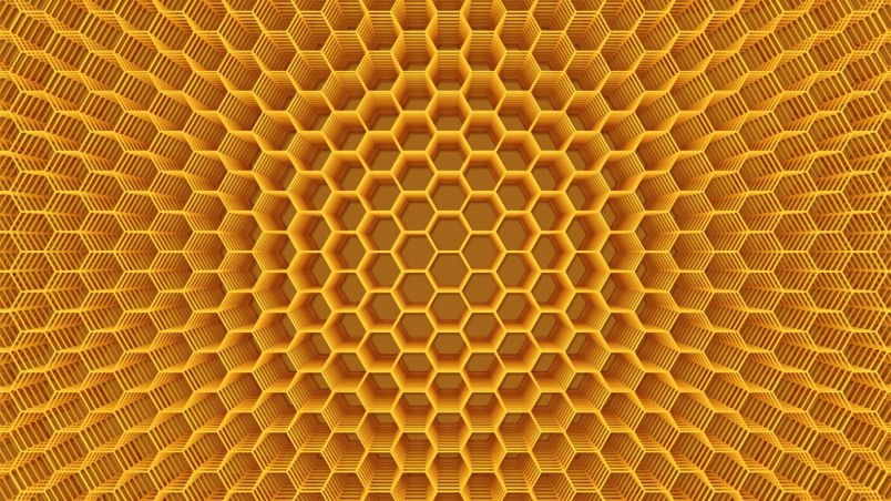 3d Effect Wallpaper For Iphone Abstract Honeycomb Structure Hd Wallpaper Wallpaperfx
