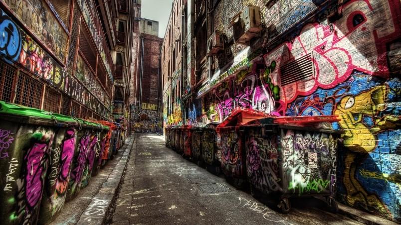 3d Tunnel Wallpaper Graffiti Everywhere Hd Wallpaper Wallpaperfx