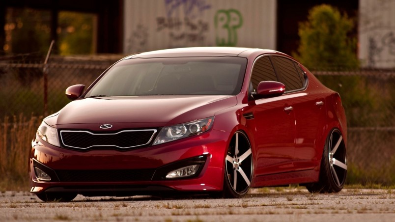 Stanced Car Iphone Wallpaper Kia Optima Tuning Hd Wallpaper Wallpaperfx