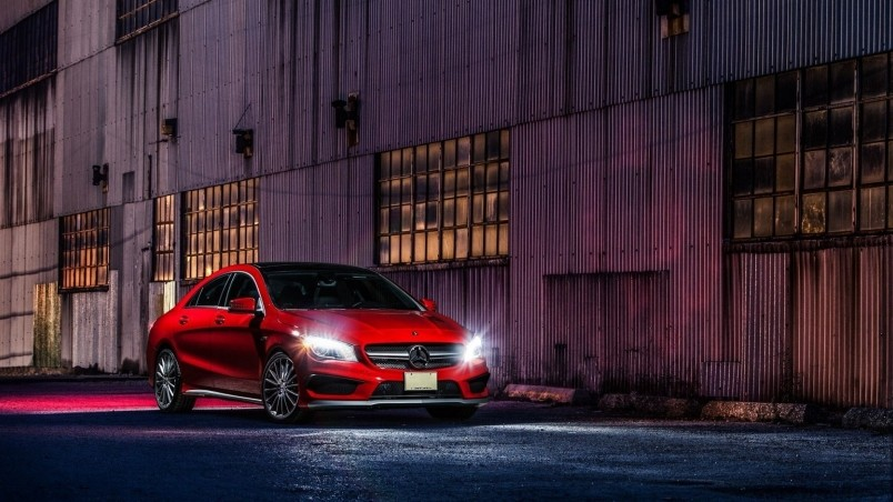 Benz Car Wallpapers Free Download Red Cla 45 Amg Hd Wallpaper Wallpaperfx