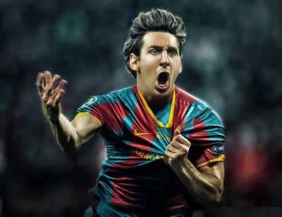 Messi Cartoon Wallpaper