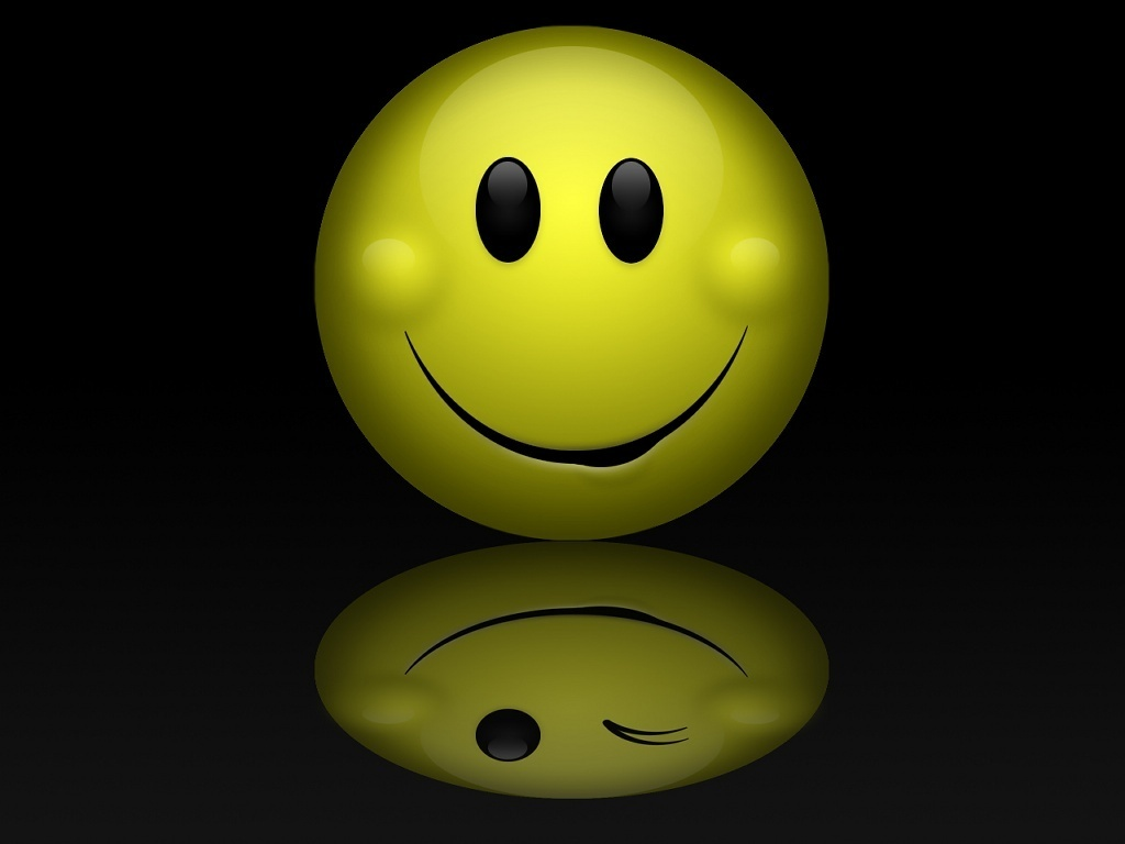 3d Emoticons Wallpapers Smiley Reflection Wallpaper Wallpaper Wallpaperlepi