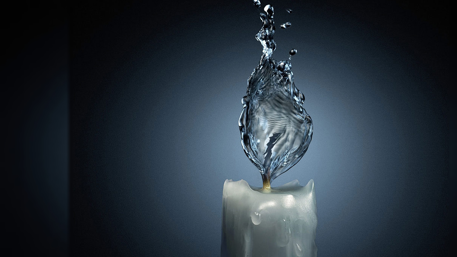 3d Liquid Abstract Wallpaper Candle Water Wallpaper Hd Wallpaper Wallpaperlepi