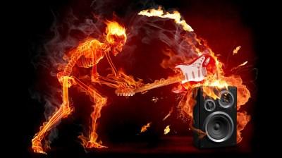 Fire Rock Music Wallpaper For IPhone Wallpaper | WallpaperLepi