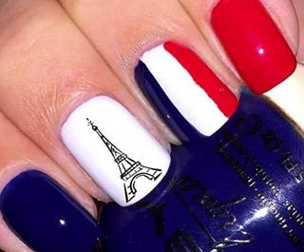 Creative France Nail Art Wallpaper Wallpaperlepi