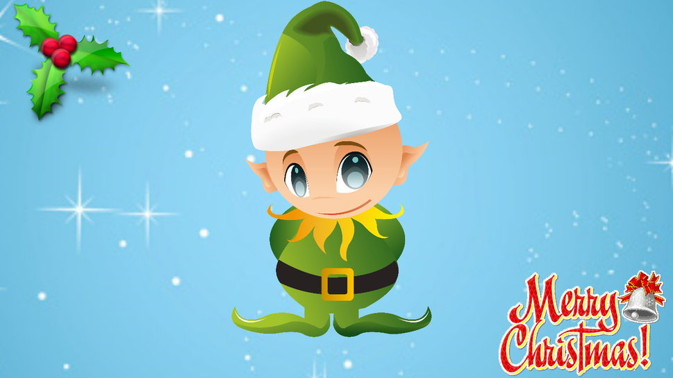Cute Kid Wallpapers Free Download Funny Christmas Elf Wallpaper Wallpaperlepi