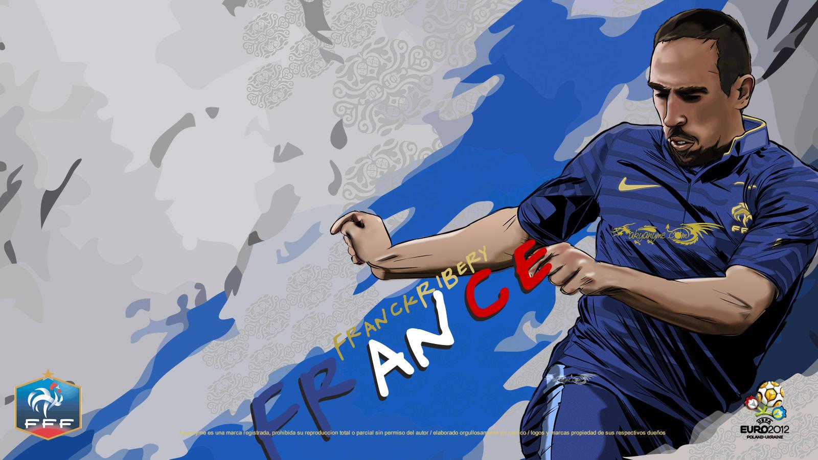 Anime Girl Wallpaper Hd Icon French National Football Team Franck Ribery Wallpaper