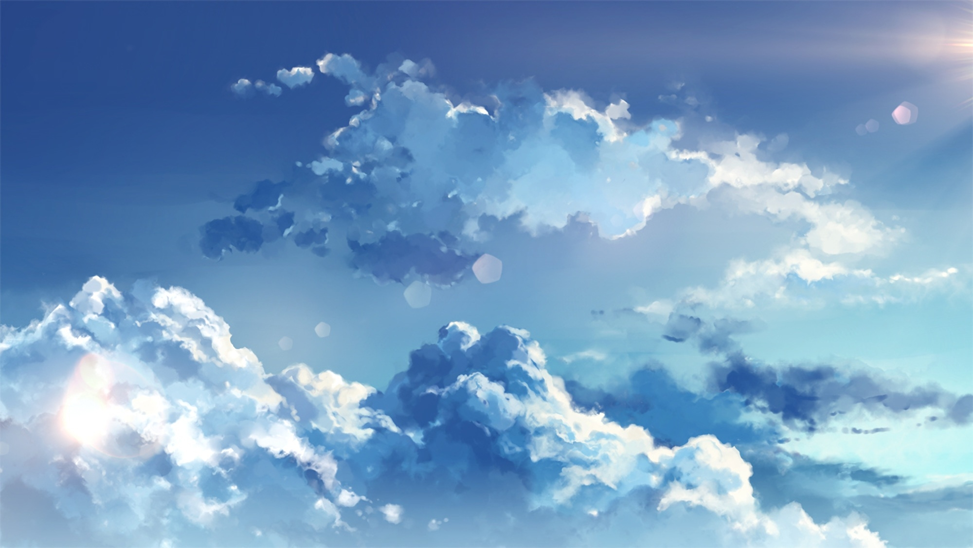 Sky Anime Wallpaper Anime Clouds Sky Wallpapermaiden