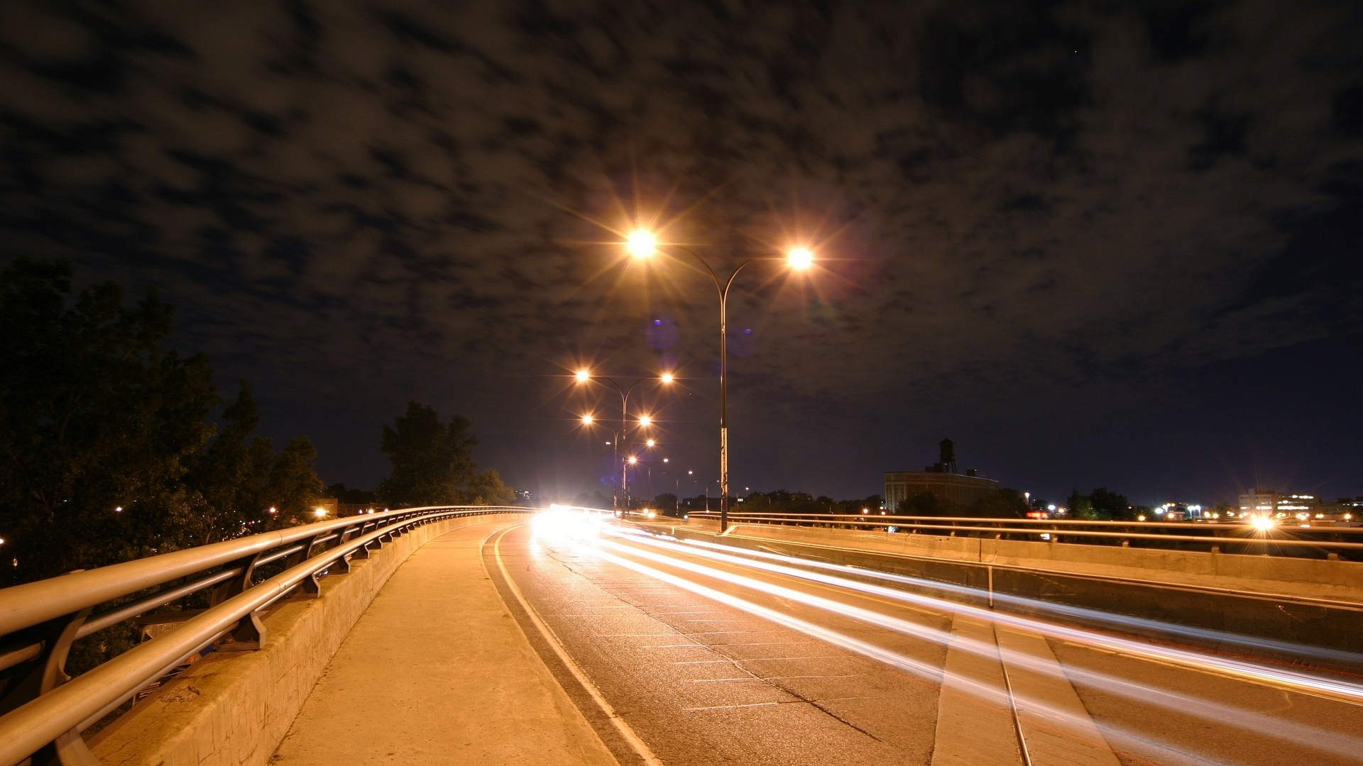 Best Looking Cars Wallpapers Headlight Trails On Highway At Night Abstract