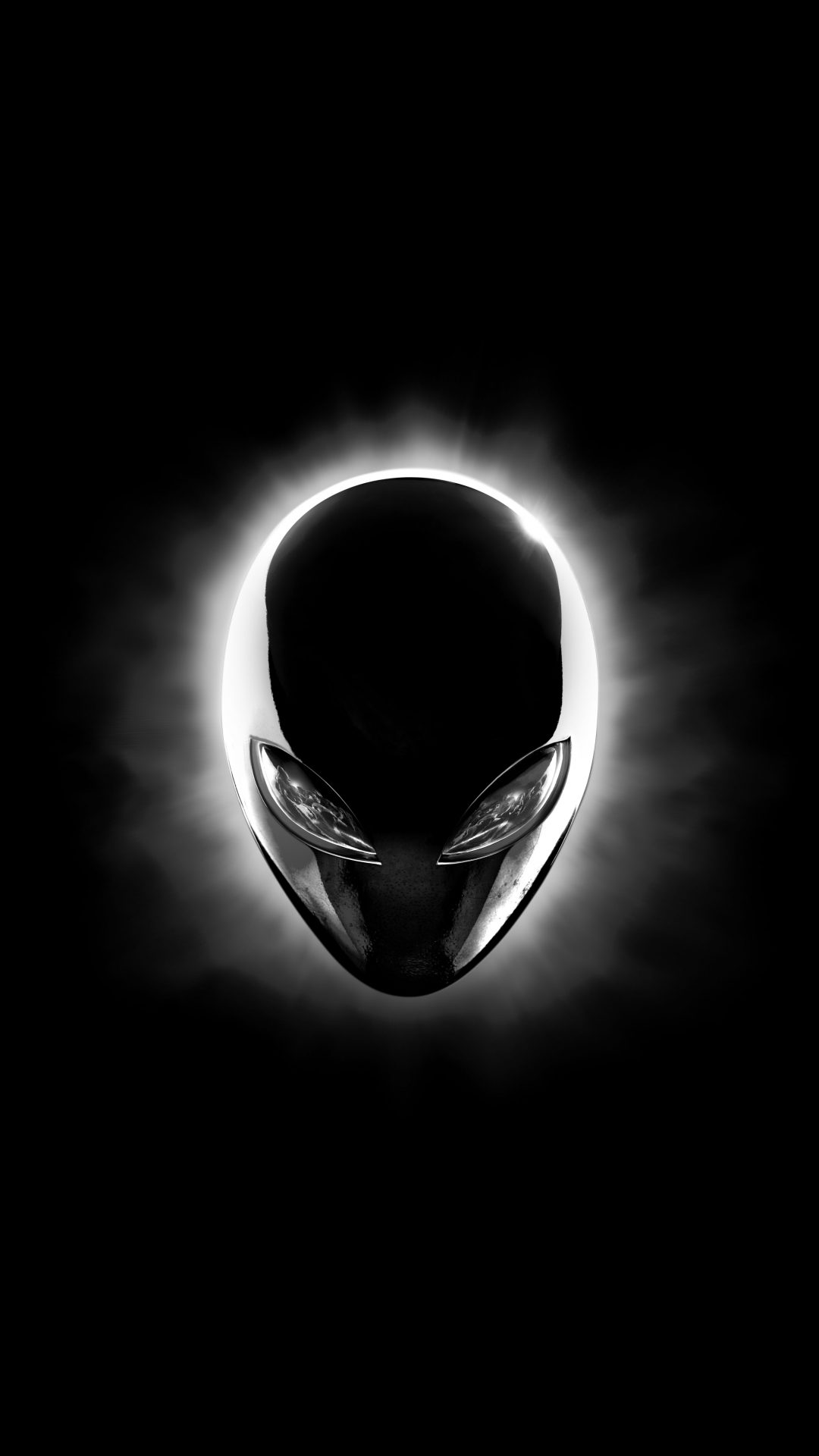 Alienware Logo Hd Wallpaper Alienware Eclipse Head Black 8k Uhd Wallpaper