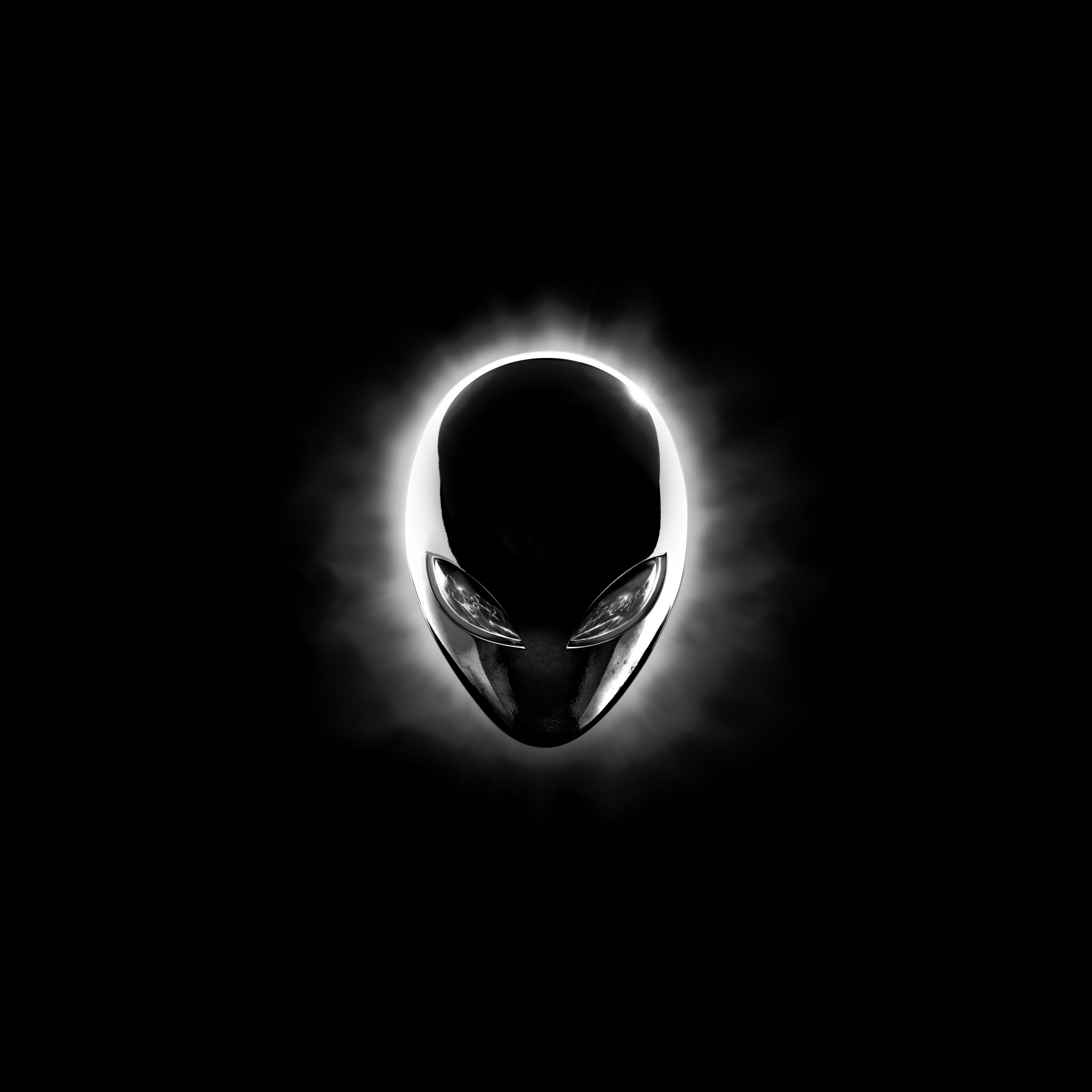 Alienware Iphone Wallpaper Alienware Eclipse Head Black 8k Uhd Wallpaper