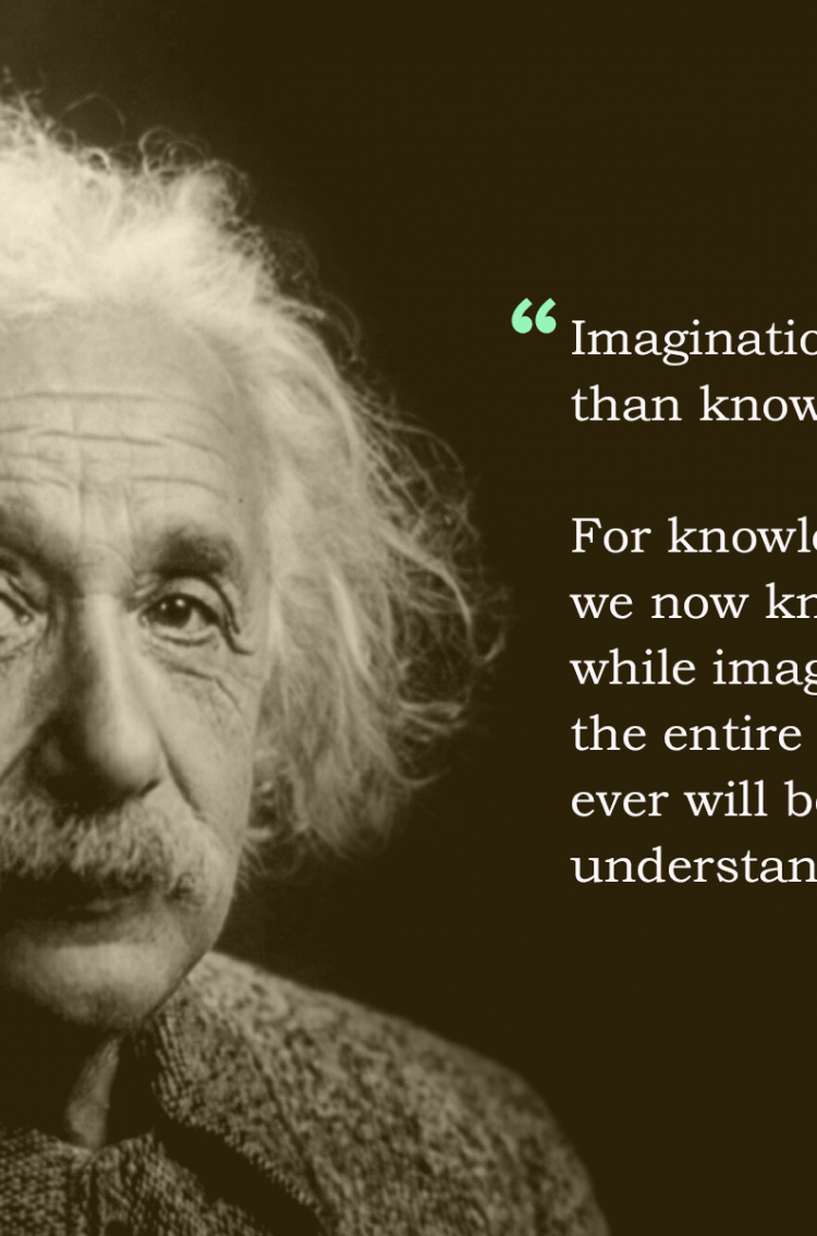 Motivational Quotes Wallpaper For Mobile Albert Einstein Imagination Quote Hd Wallpaper