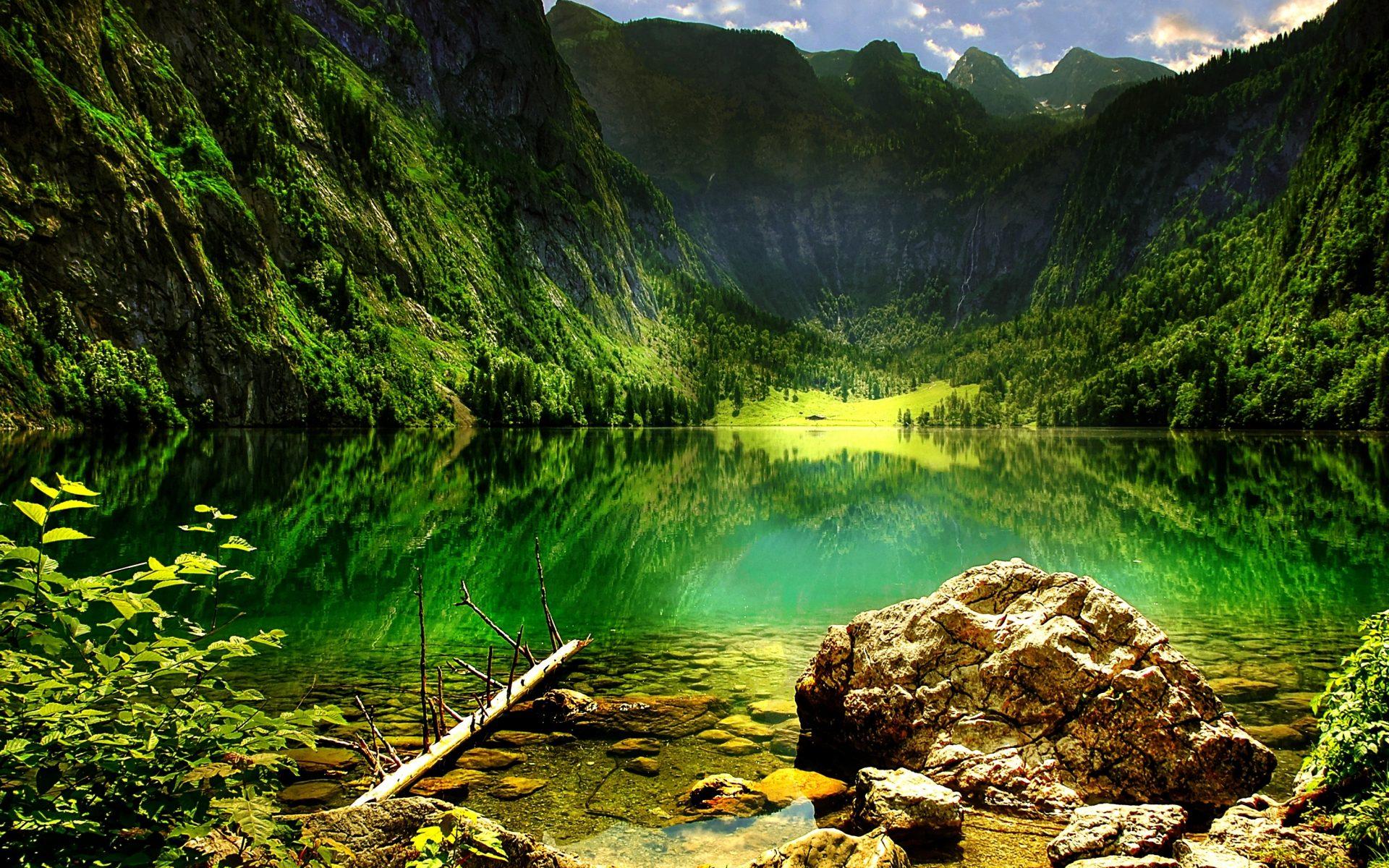 Cute Graffiti Wallpaper Mountain Lake In The Bavarian Alps Hd Wallpaper