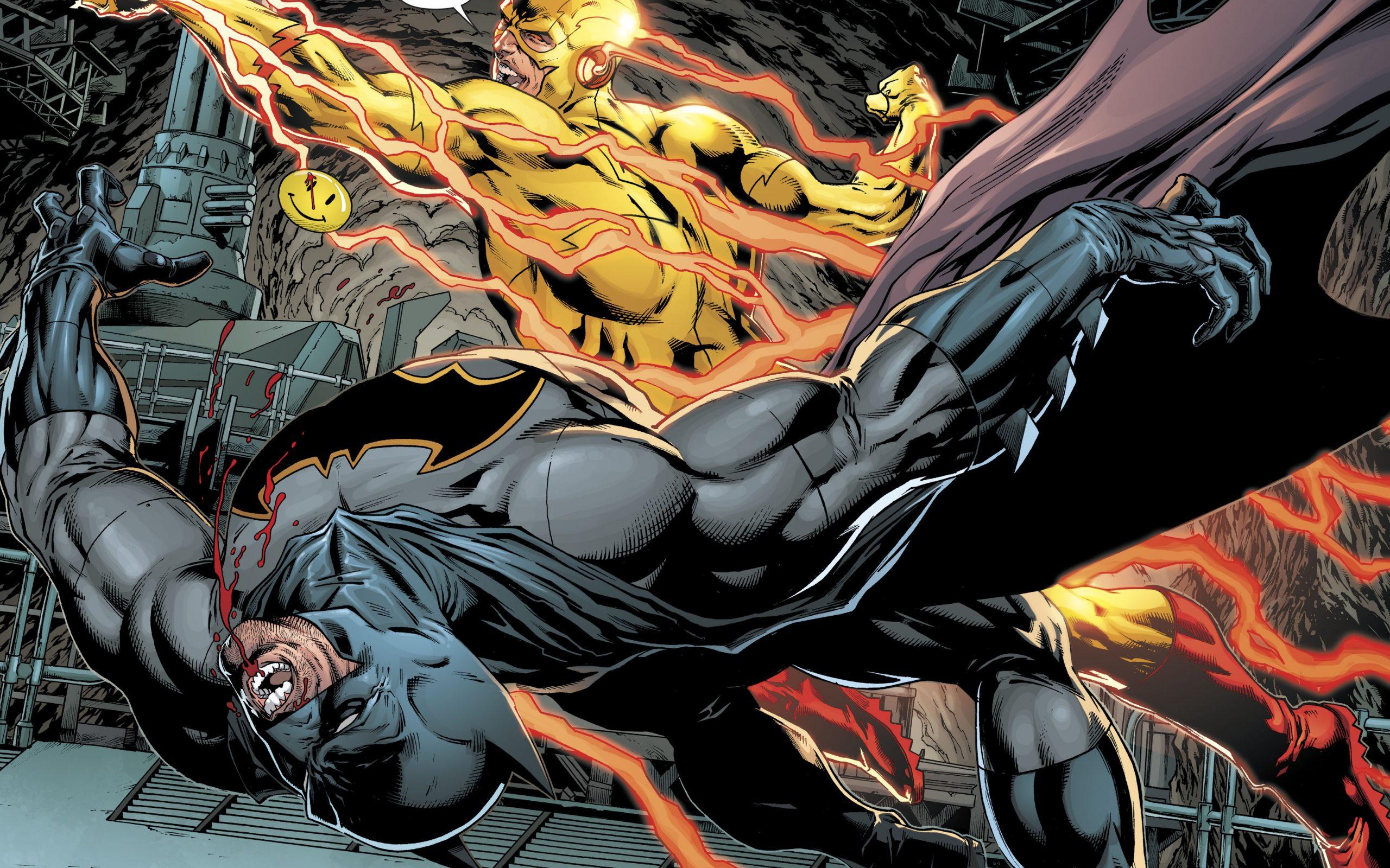 Motivational Wallpaper Cute Batman Vs Reverse Flash Dc Comics 4k Uhd Wallpaper