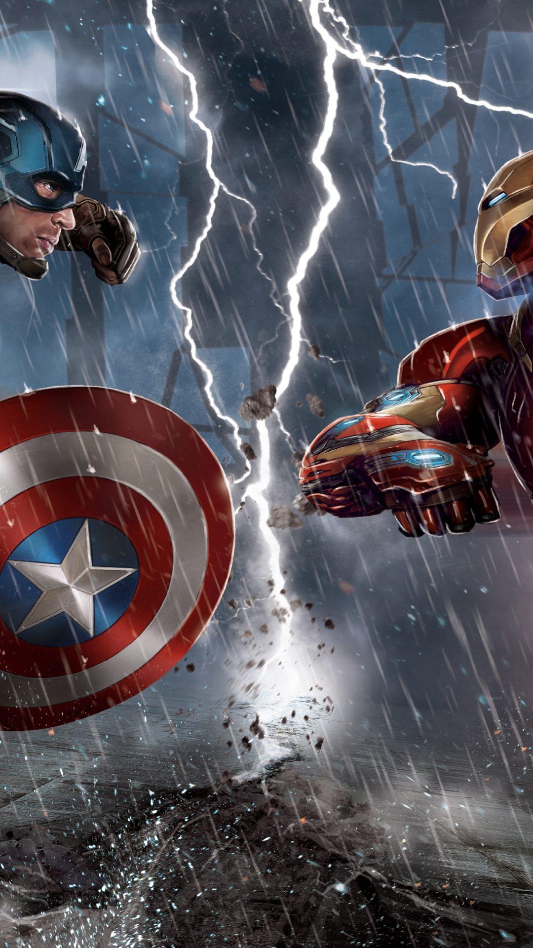 Marvel Iphone Wallpaper Captain America Civil War Quot Iron Man Vs Captain America