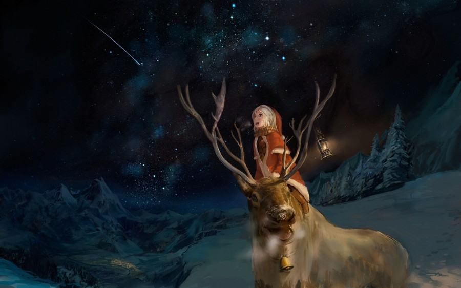 Anime Wallpaper Girl Looking At Stars Rudolph Wallpaper Para Pantalla Wallpapers Wallpapers