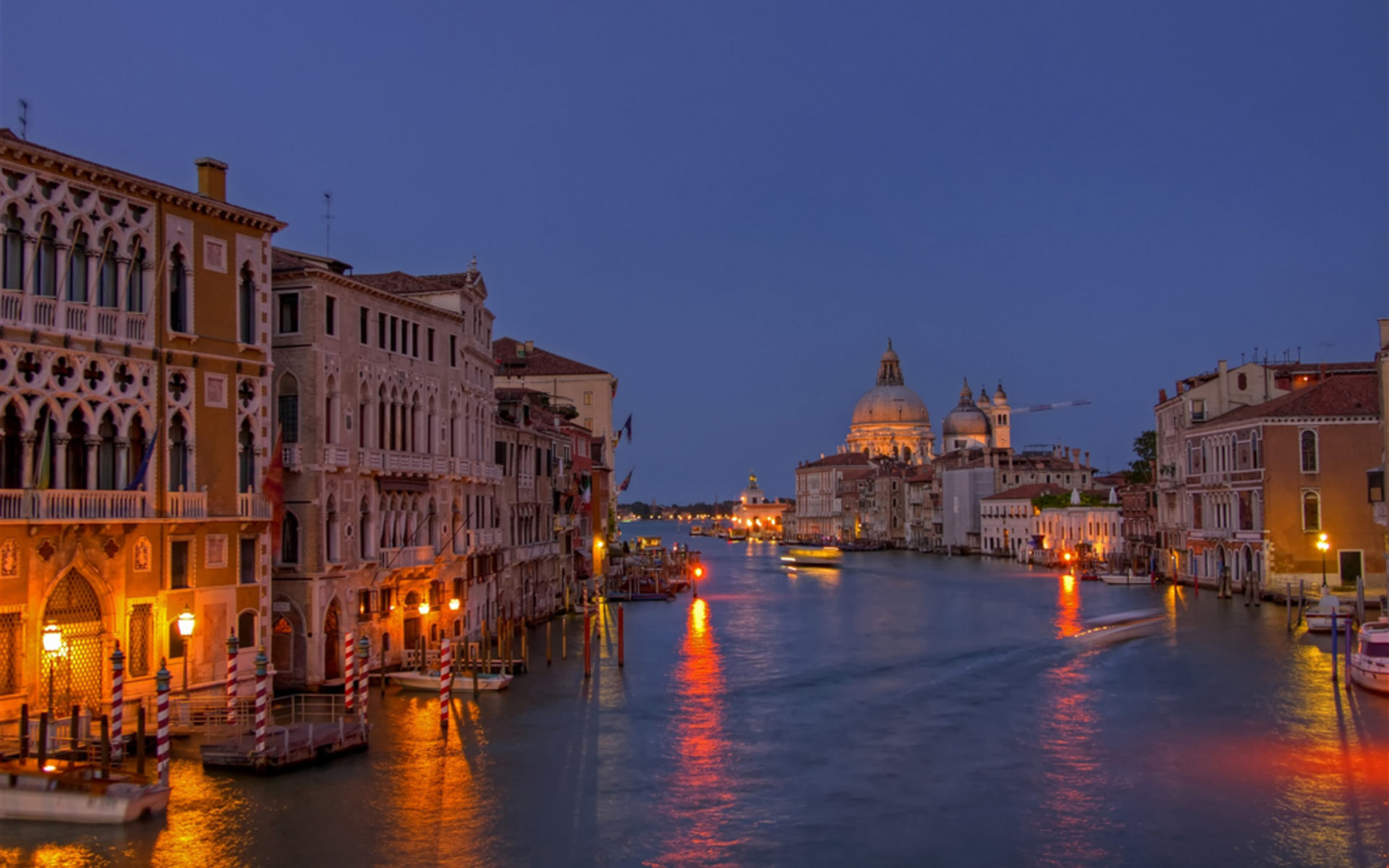 Night View Grand Canal Venice Italy Wallpapers13 Com