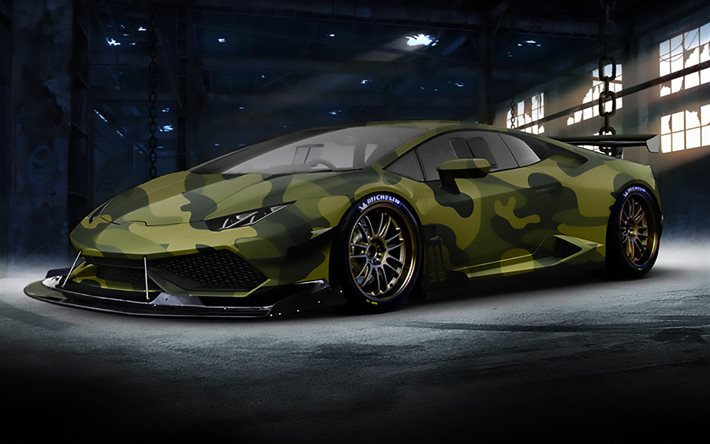 Free 3d Widescreen Wallpapers For Pc Download Wallpapers Camouflage Lamborghini Huracan Art