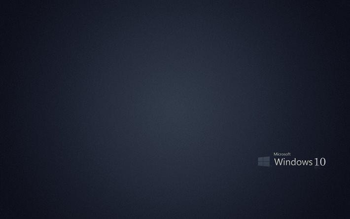 Wallpaper Hd Hp Herunterladen Hintergrundbild Windows 10 Logo Grauer