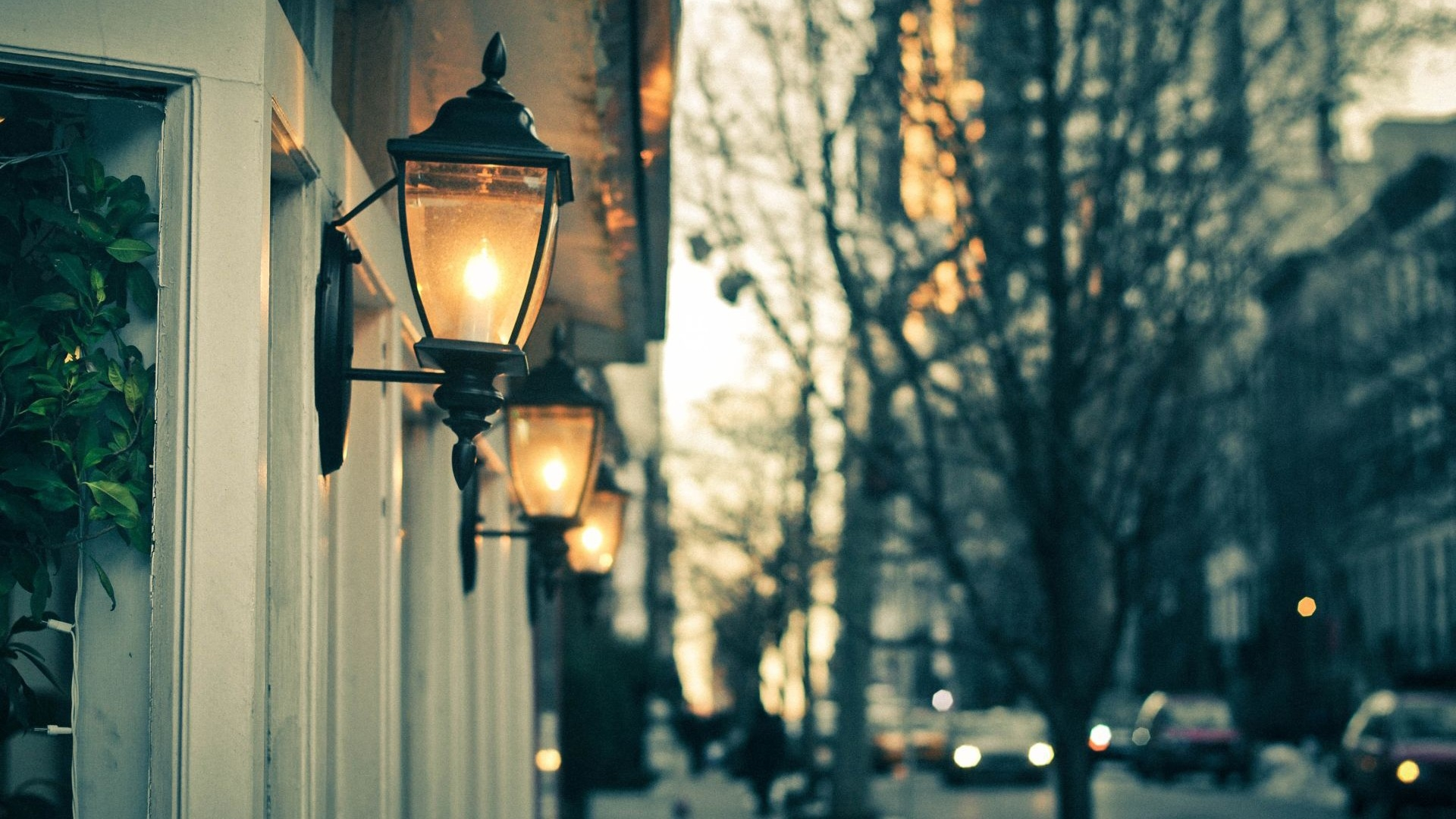 Street Lamp Wallpaper Download Wallpaper 1920x1080 Street Lights Night Trees