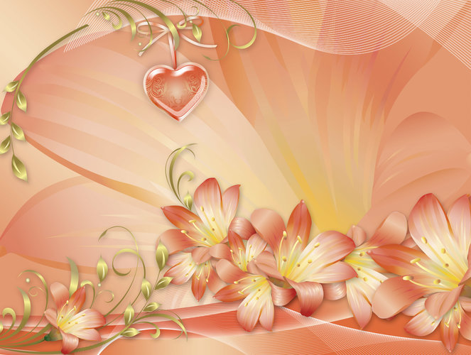 Download wallpaper artistic Heart with tags Artistic, Flower